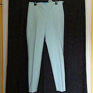 NEW J McLaughlin SYDNEY slim side zip pants Preppy